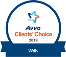 Avvo Clients' Choice 2019 Wills badge