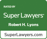 Robert H. Lyons SuperLawyers badge