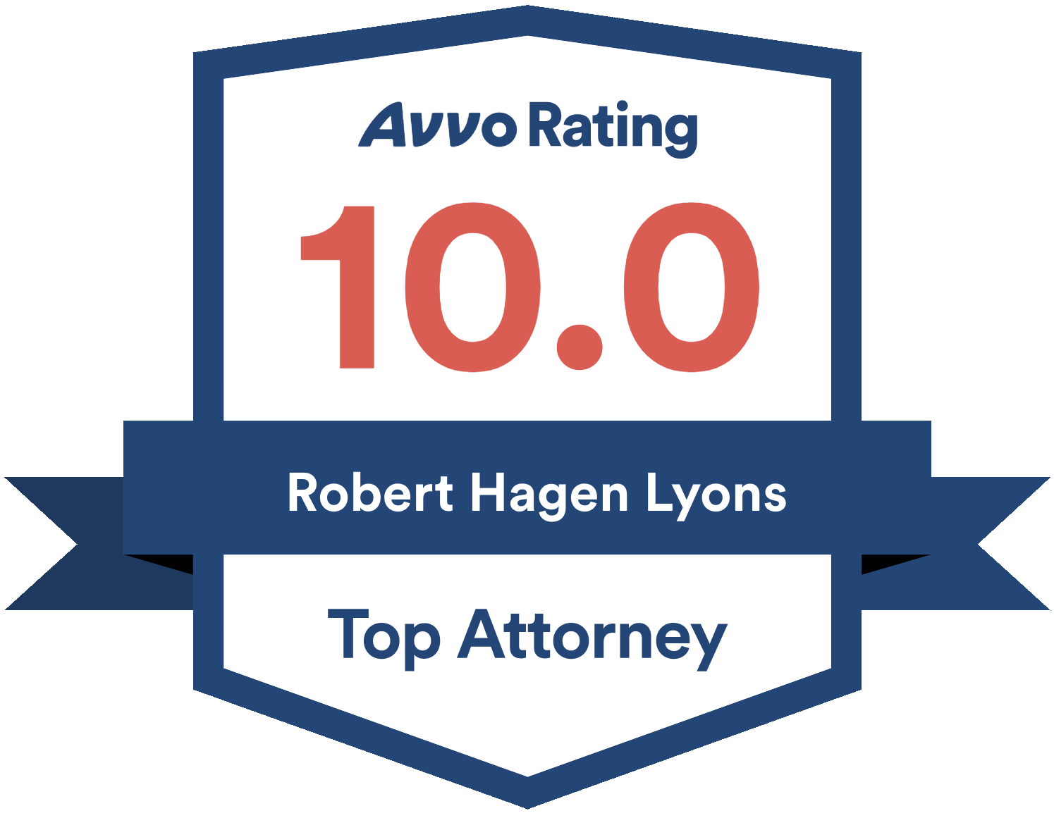Robert Hagen Lyons Avvo badge